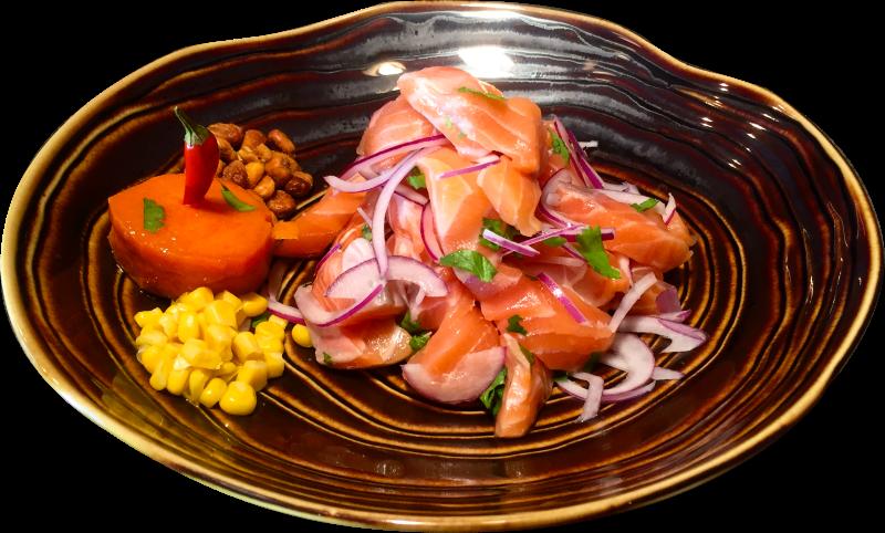 Ceviche de salmon